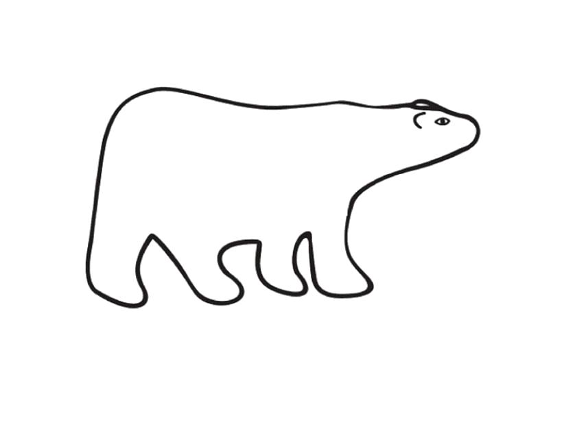 Раскраска Белый медведь. Скачать Мишка.  Распечатать Мишка