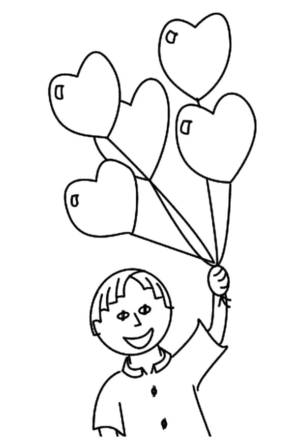 Раскраска шары сердечки. Скачать сердечки.  Распечатать сердечки