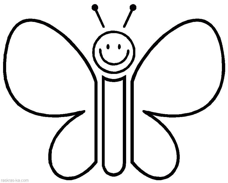 Раскраска  для маленьких. Бабочка. Скачать Бабочки.  Распечатать Бабочки