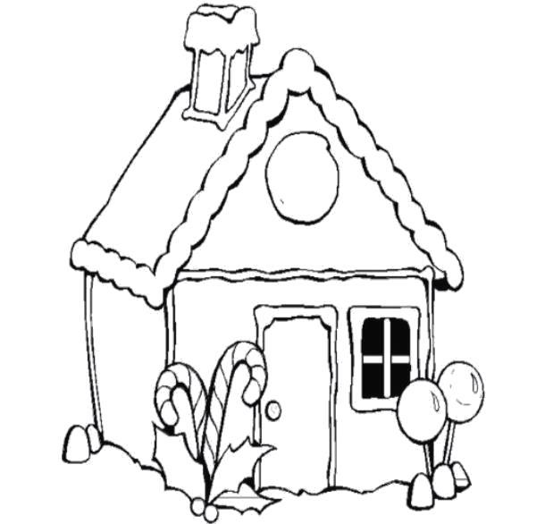 Раскраска  сладкий домик. Скачать .  Распечатать