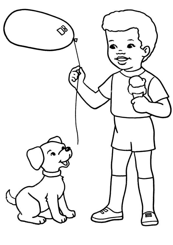 Раскраска Игры с другом. Скачать Собаки.  Распечатать Собаки