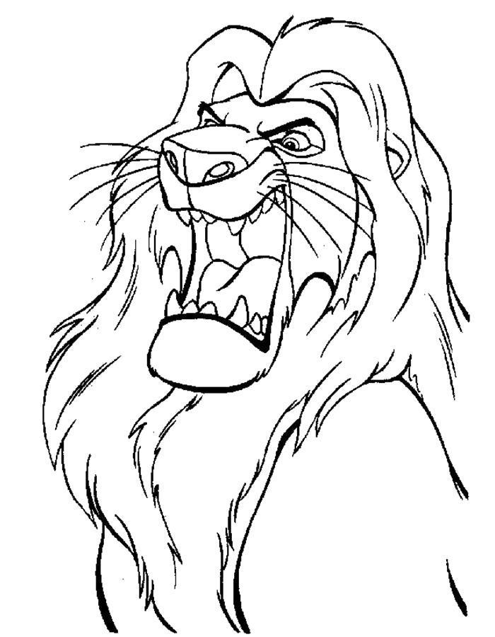 Название: Раскраска Разъяренный Лев. Категория: . Теги: .