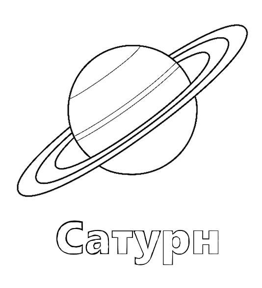 Раскраска Планета Сатурн, кольца шара, . Скачать Планета.  Распечатать Планета