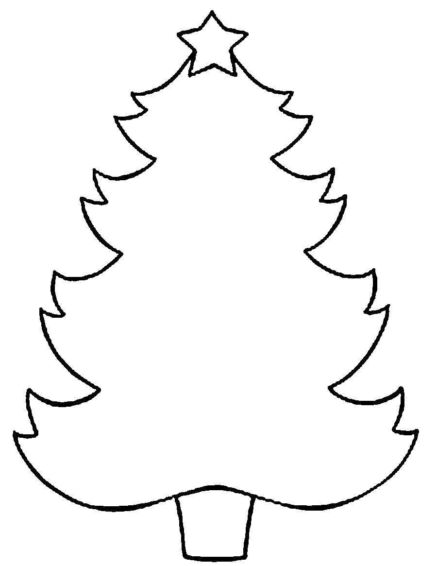 Раскраска  деревья вырезаем елку по шаблону. Скачать Шаблон.  Распечатать Шаблон