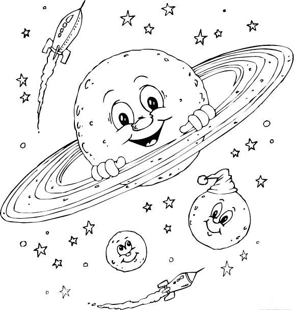 Раскраска Планеты ракеты. Скачать Планеты.  Распечатать Планеты