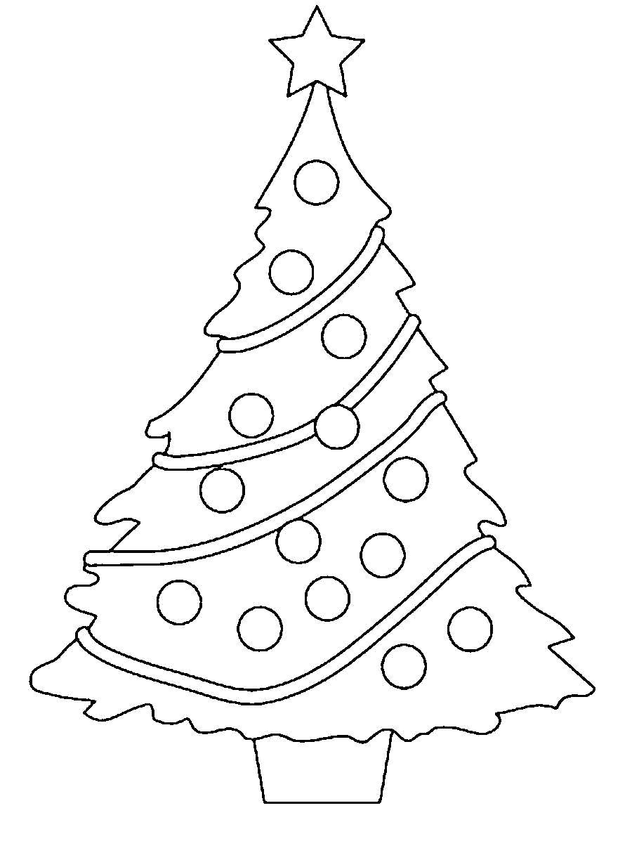Раскраска  новогодняя мишура елка новый год. Скачать Елка.  Распечатать Елка
