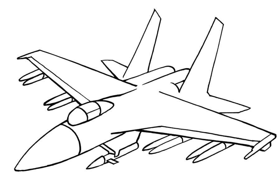 Раскраска Истребитель с ракетами .  на ...  Подводная Лодка. Скачать ракета.  Распечатать ракета