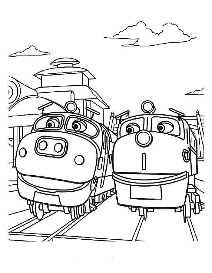 Раскраска  Чаггингтон и его друзья. Скачать Чаггингтон.  Распечатать Чаггингтон