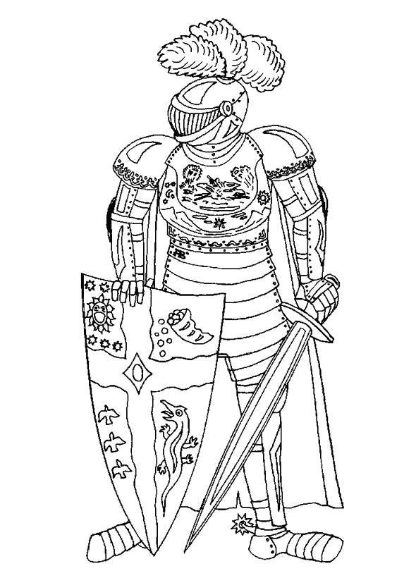 Раскраска  рыцари . Скачать рыцари.  Распечатать рыцари