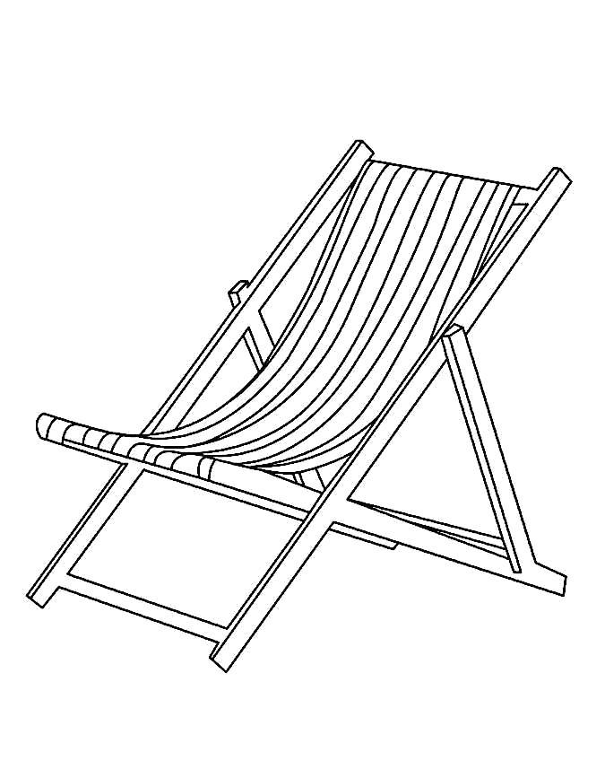 Раскраска Стул. . стул, лежак, . Скачать мебель.  Распечатать мебель