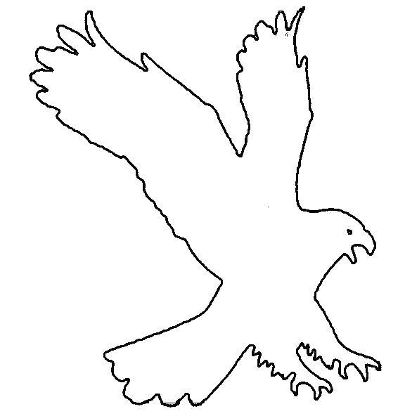 Раскраска Орёл. Трафарет
