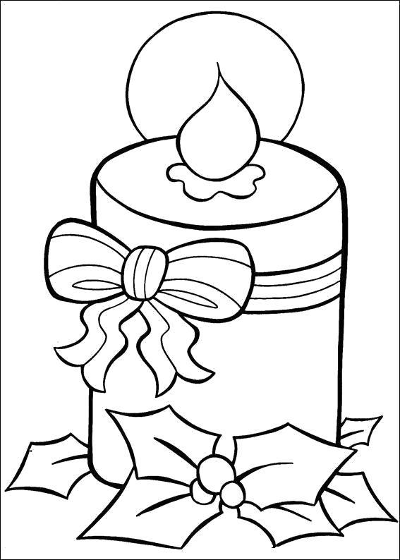Раскраска Новогодние  для детей, свеча. Скачать новогодние.  Распечатать новогодние