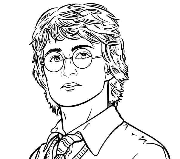 Раскраска Гарри Поттер. Скачать гарри поттер.  Распечатать гарри поттер