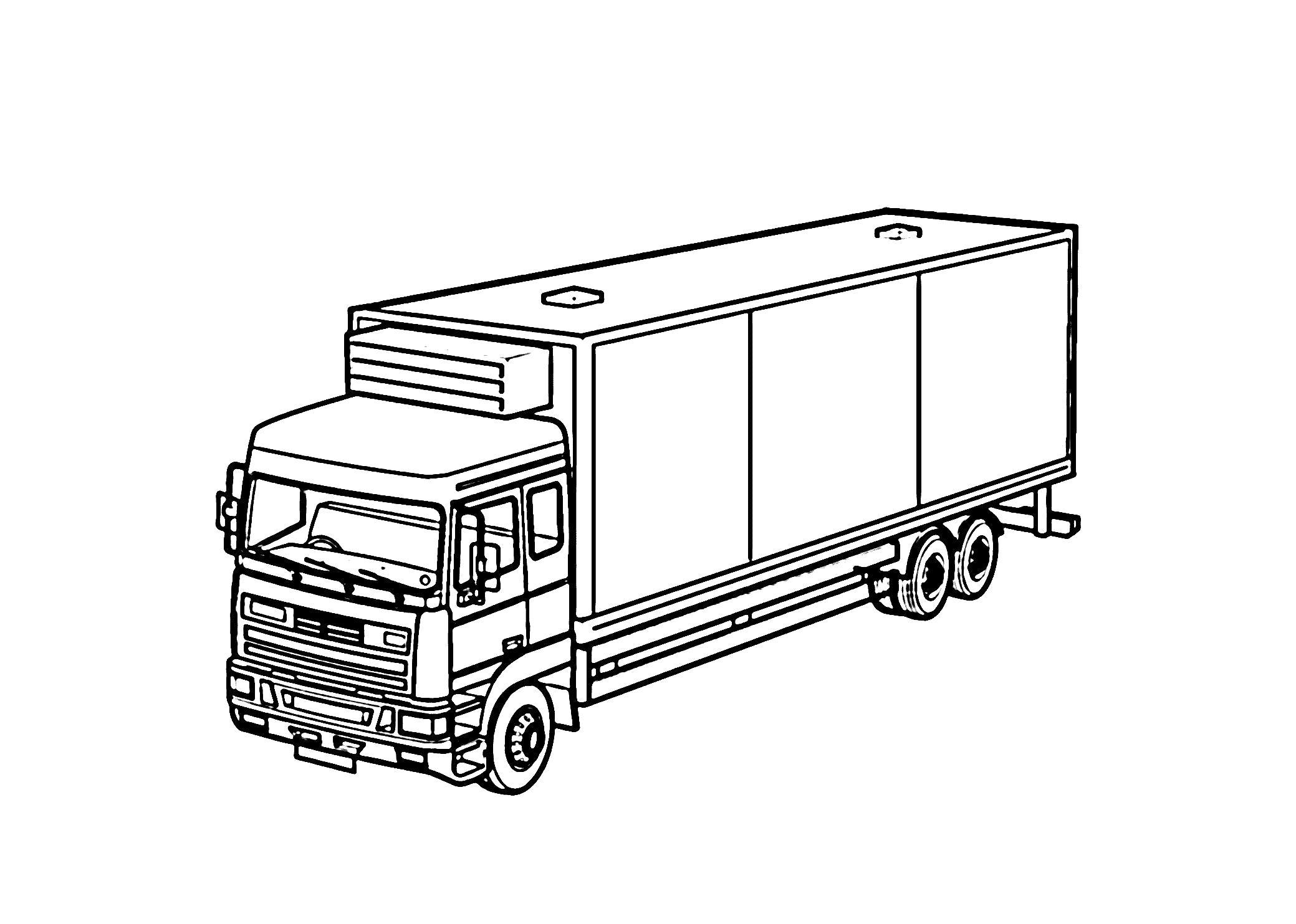 отличный картинки грузовых машин для раскрашивания рассказал