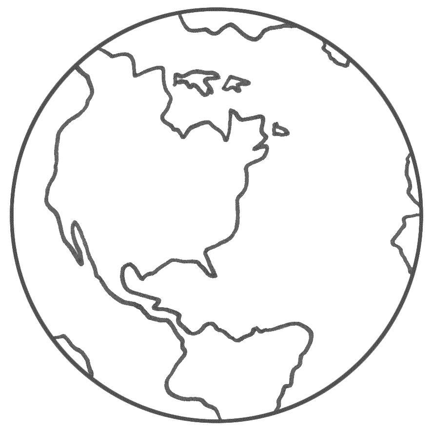 Раскраска  планета земля. Скачать космос.  Распечатать космос