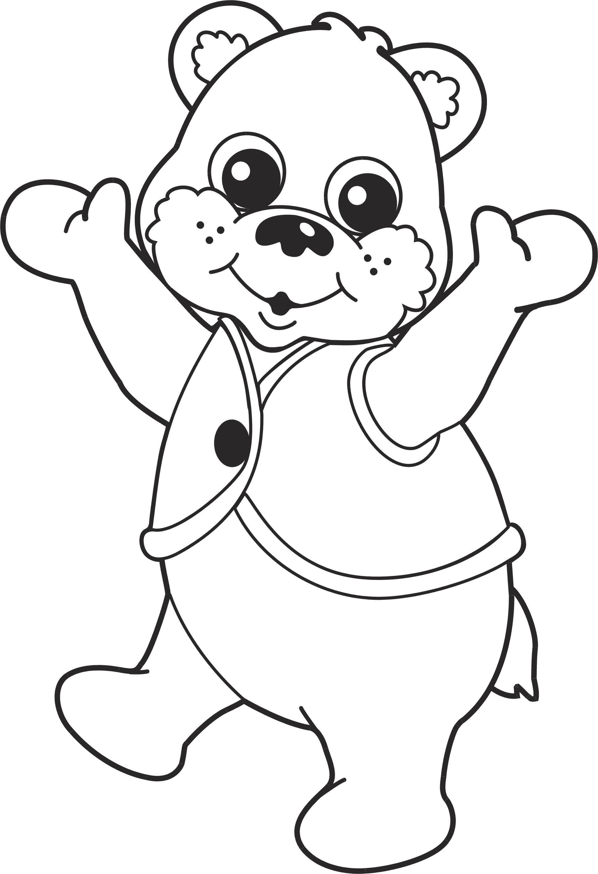 Картинка для детей мишутка раскраска