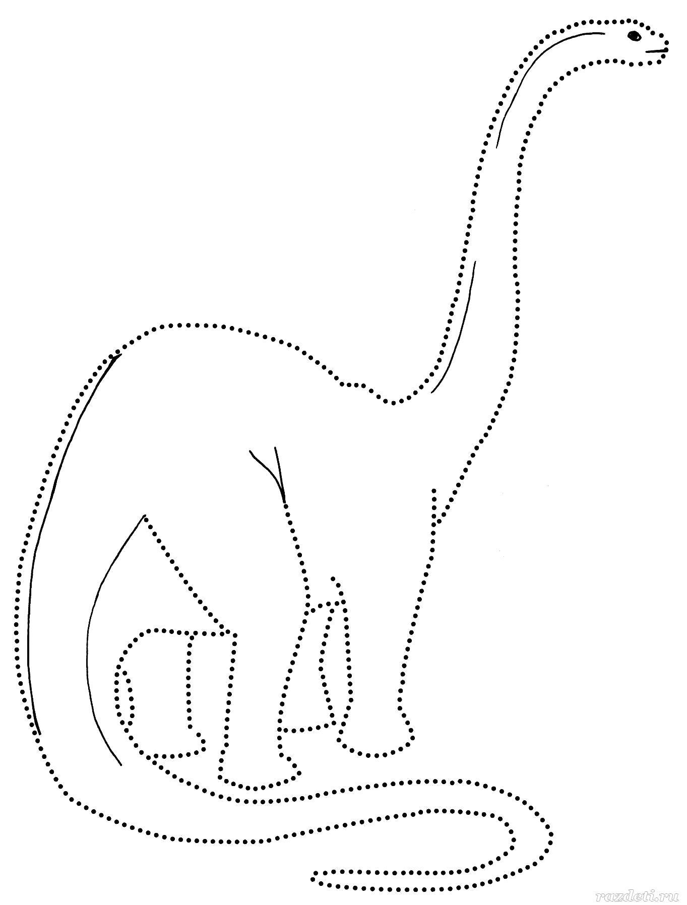 Картинки контур динозавра