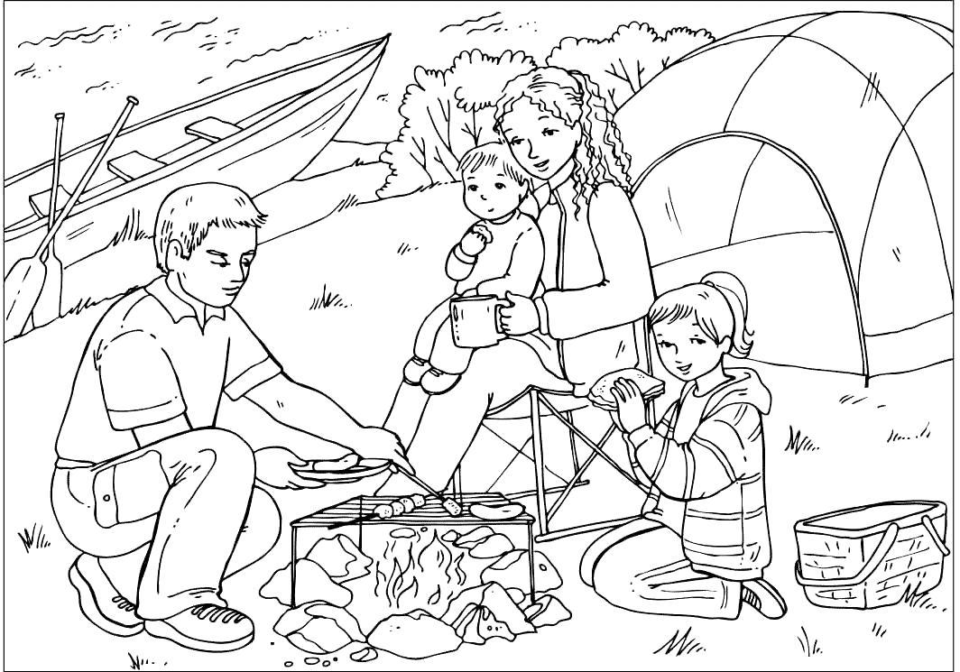 рисунки отдых на природе класс вязанию мотива