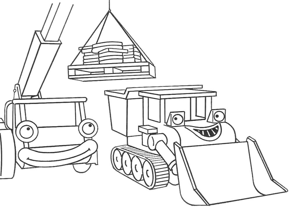 Раскраска Раскраска строительная техника. для мальчиков