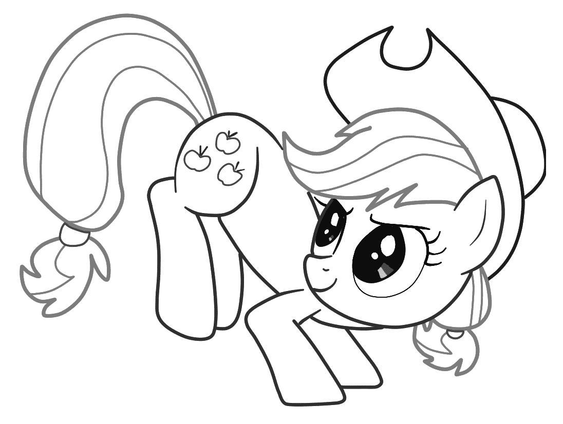 Раскраска  Пони Эпплджек.   пони дружба,  пони дружба это чудо . Скачать Эплджек.  Распечатать Дружба это чудо