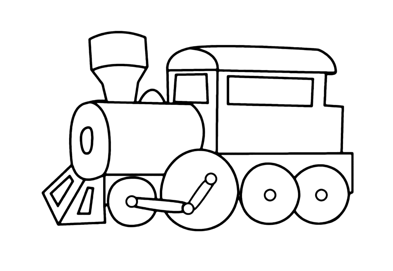 Раскраска паровоз, . Скачать паровозик.  Распечатать паровозик