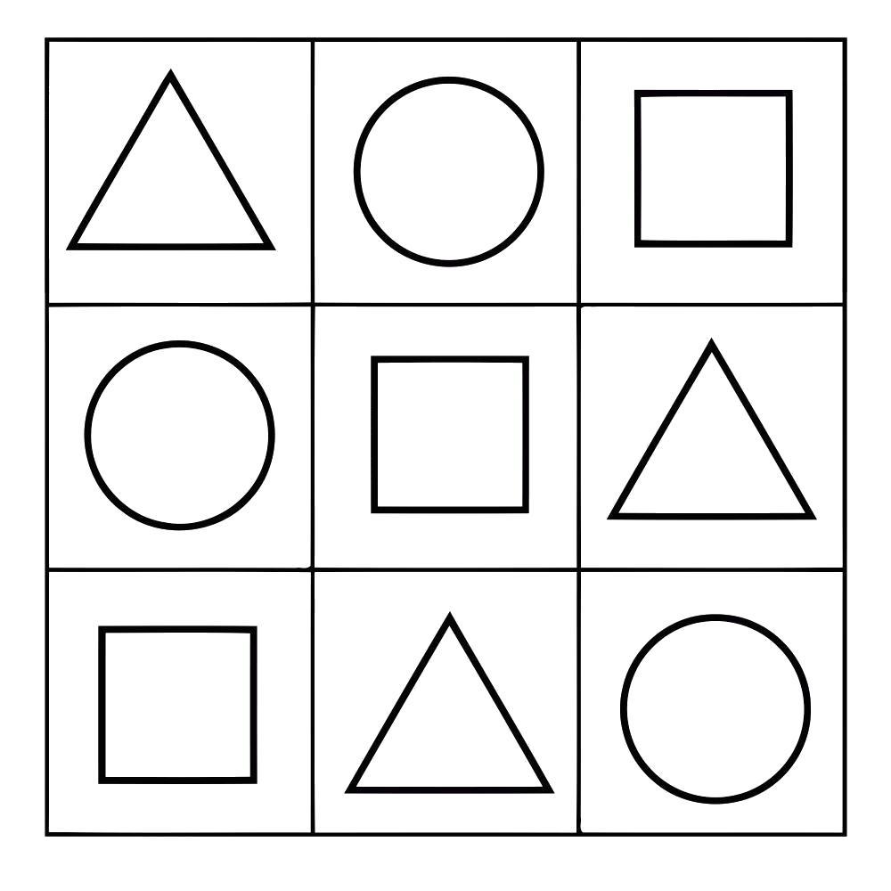 Раскраска  Шаблоны трафареты контуры контуры геометрических фигур, шаблоны для вырезания из бумаги. Скачать Шаблон.  Распечатать Шаблон
