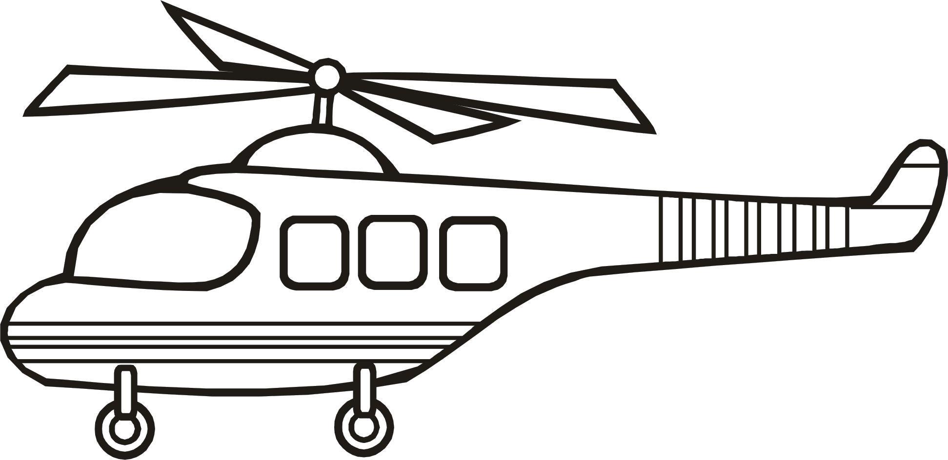 Раскраска Вертолет для маленьких. Скачать .  Распечатать