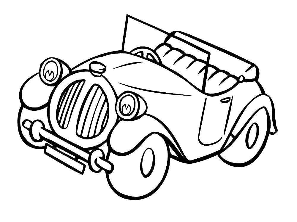 Картинка черно-белая автомобиль