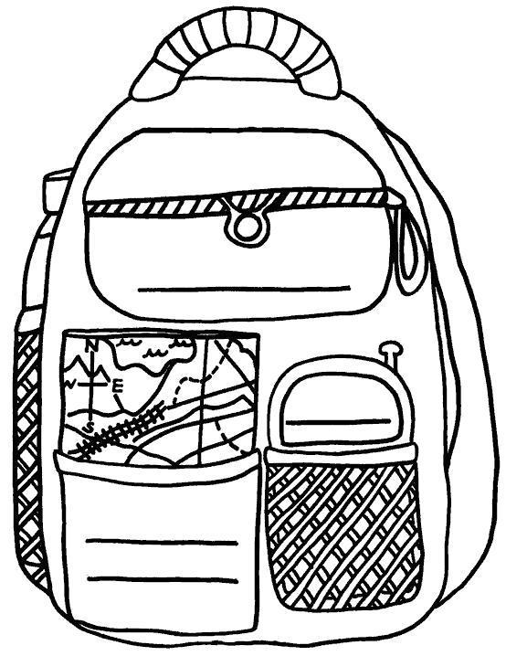 Раскраска Школьный портфель.