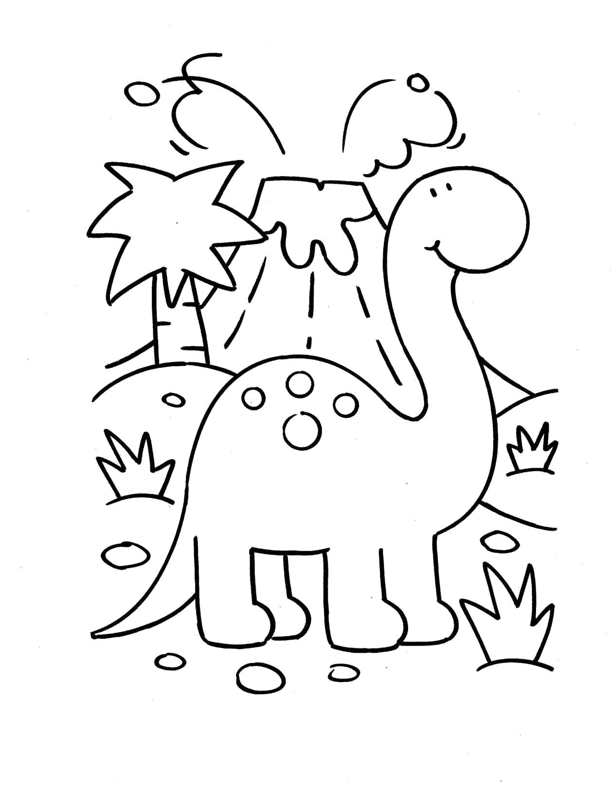 Раскраска  динозавры распечатать,  для маленьких детей. Скачать динозавр.  Распечатать динозавр