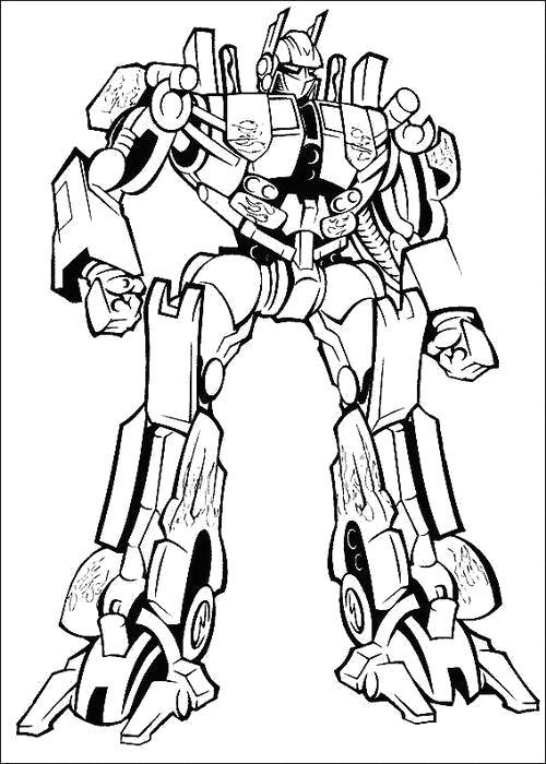 Раскраска Раскраска Высокий робот. Трансформеры