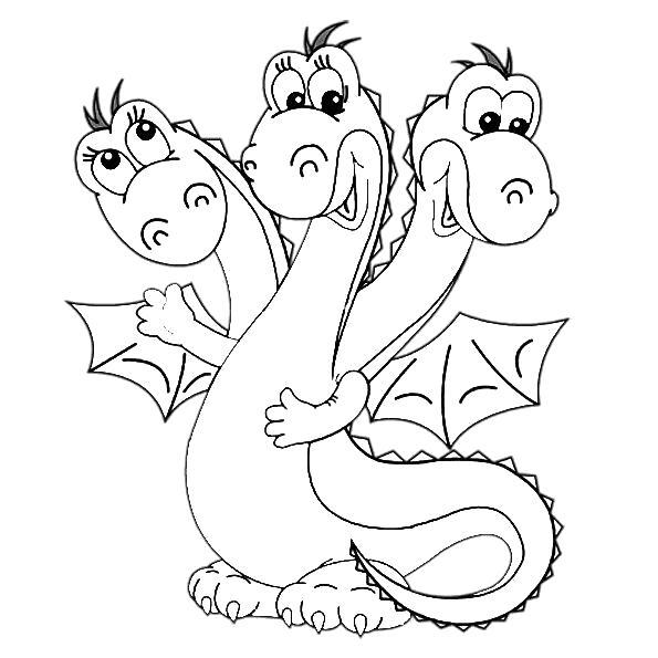 Раскраски дракон, Страница:2.