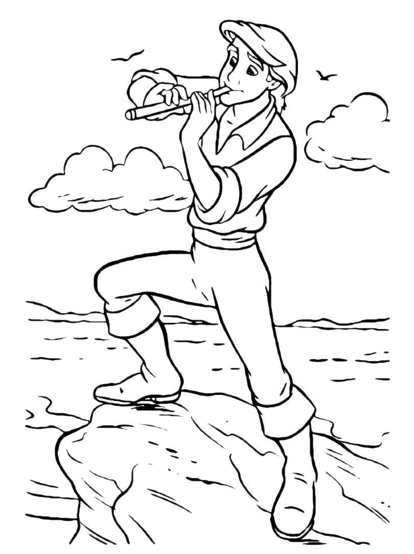 Раскраска Принц Эрик. Ариэль