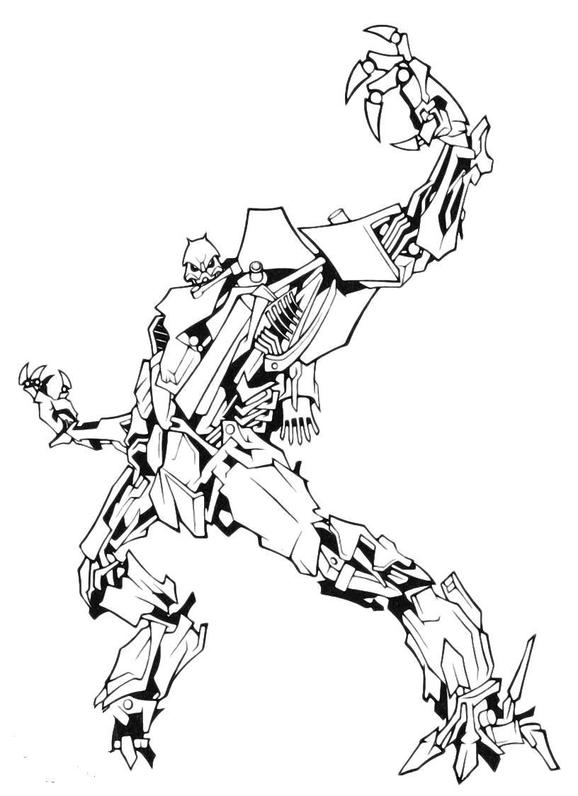 Раскраска Раскраски трансформеров. трансформер