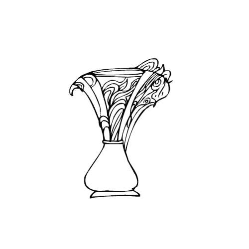 Раскраска хрустальная ваза. Скачать Ваза.  Распечатать Ваза