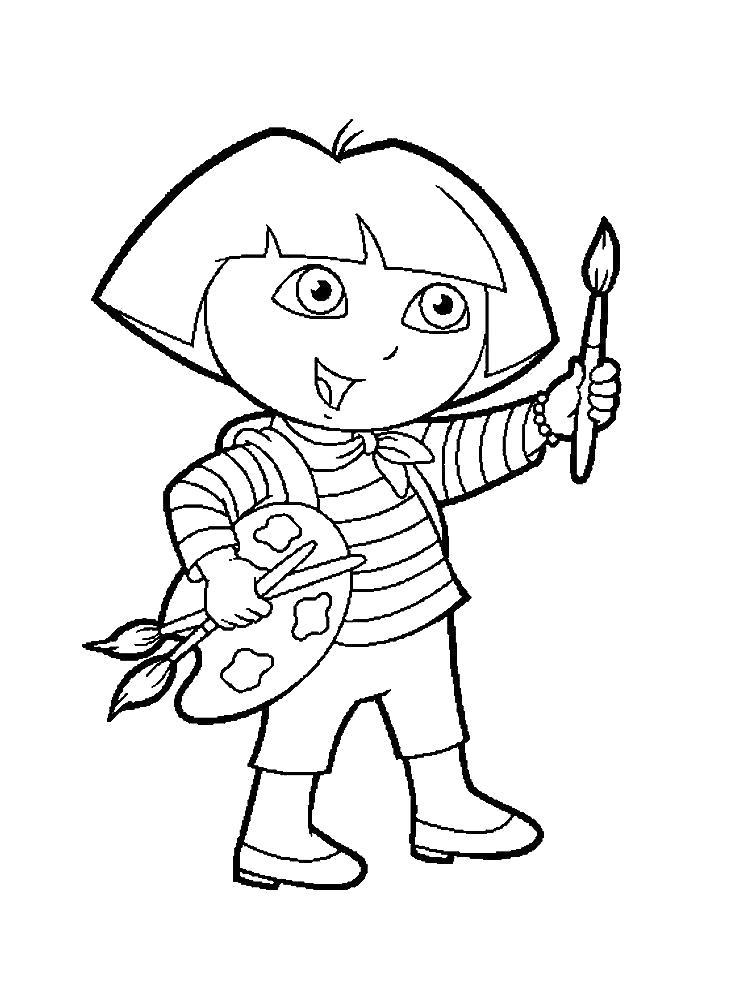 Раскраска Даша следопыт  и картинки для детского творчества. Скачать Даша следопыт.  Распечатать Даша следопыт