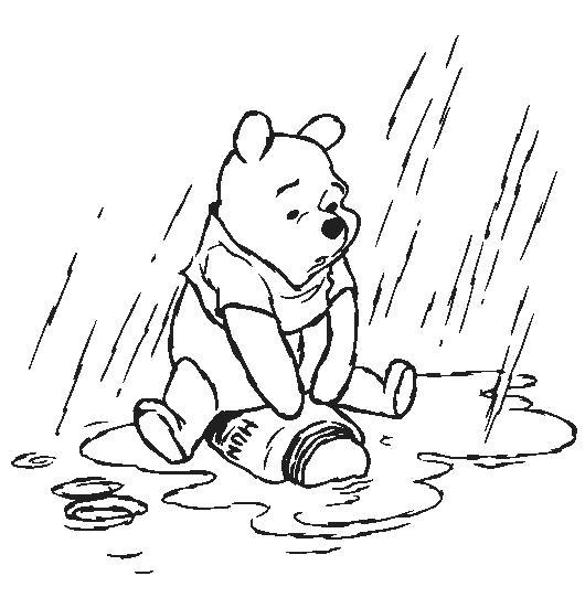 Название: Раскраска Дождь и разлитый мёд. Категория: Винни Пух. Теги: Винни Пух.