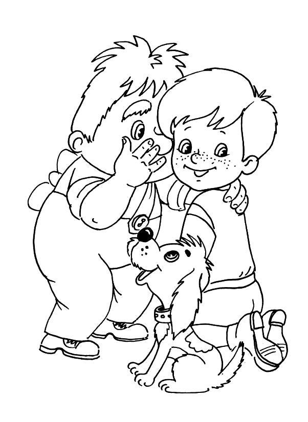 Название: Раскраска Раскраска для детей Малыш и Карлсон. Категория: герои сказок. Теги: карлсон.