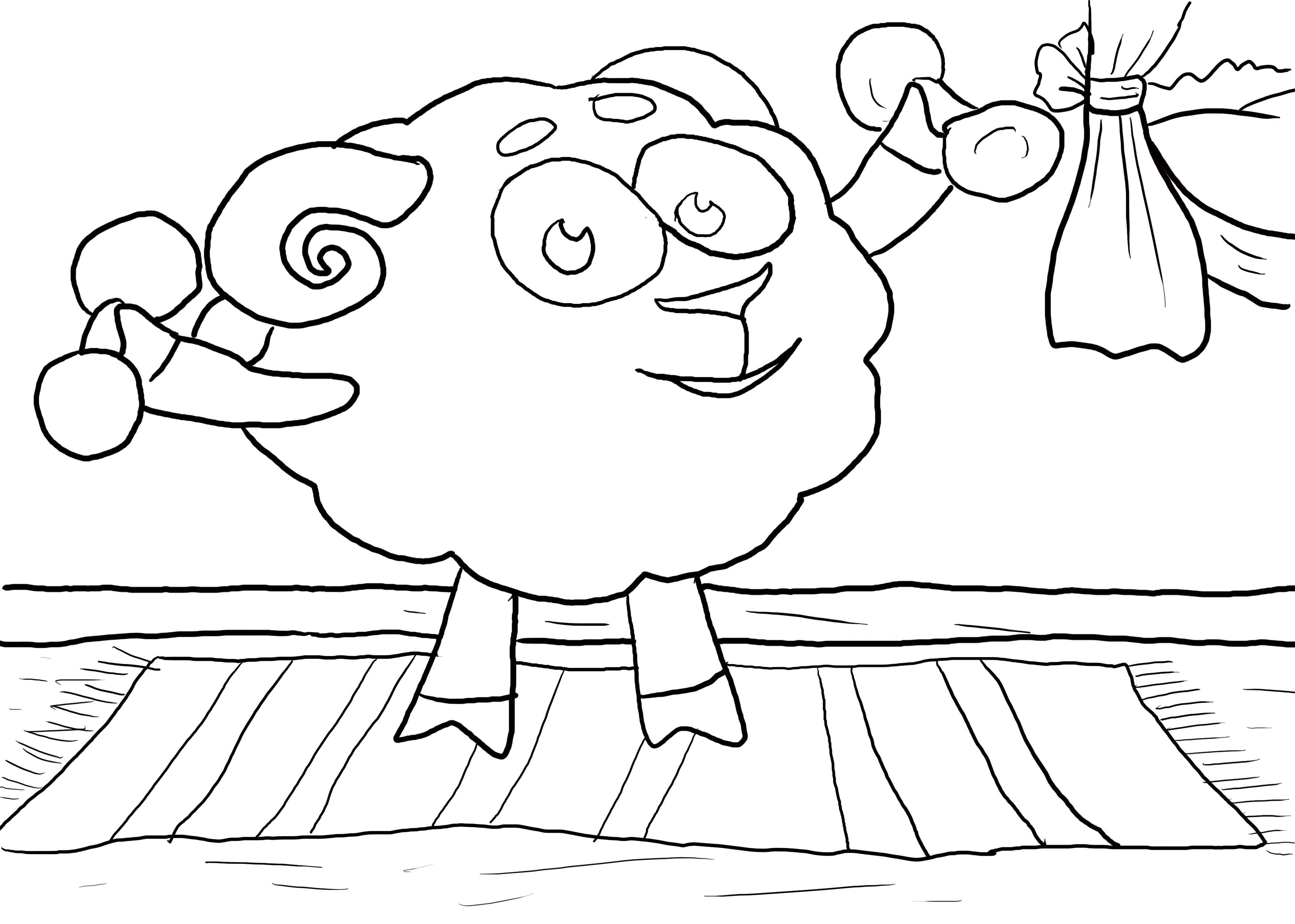 Смешарики и спорт картинки для детей раскраски