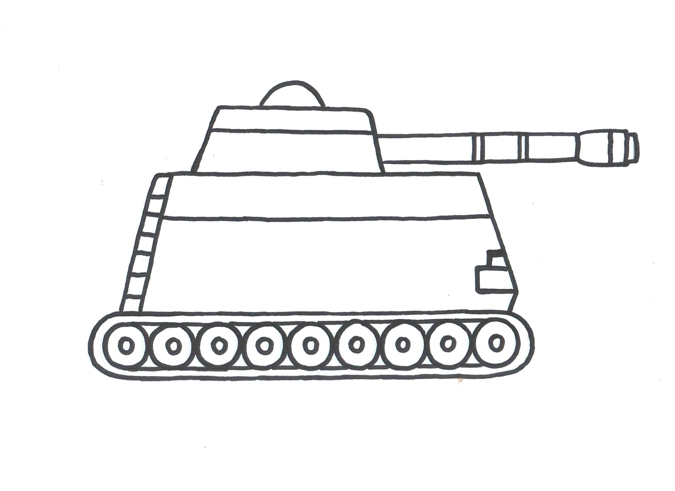 Раскраска  танк. Скачать танк.  Распечатать танк