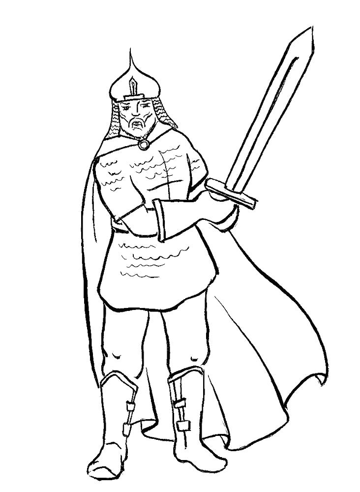 "Раскраска  ""рыцари"" . Скачать рыцари.  Распечатать рыцари"