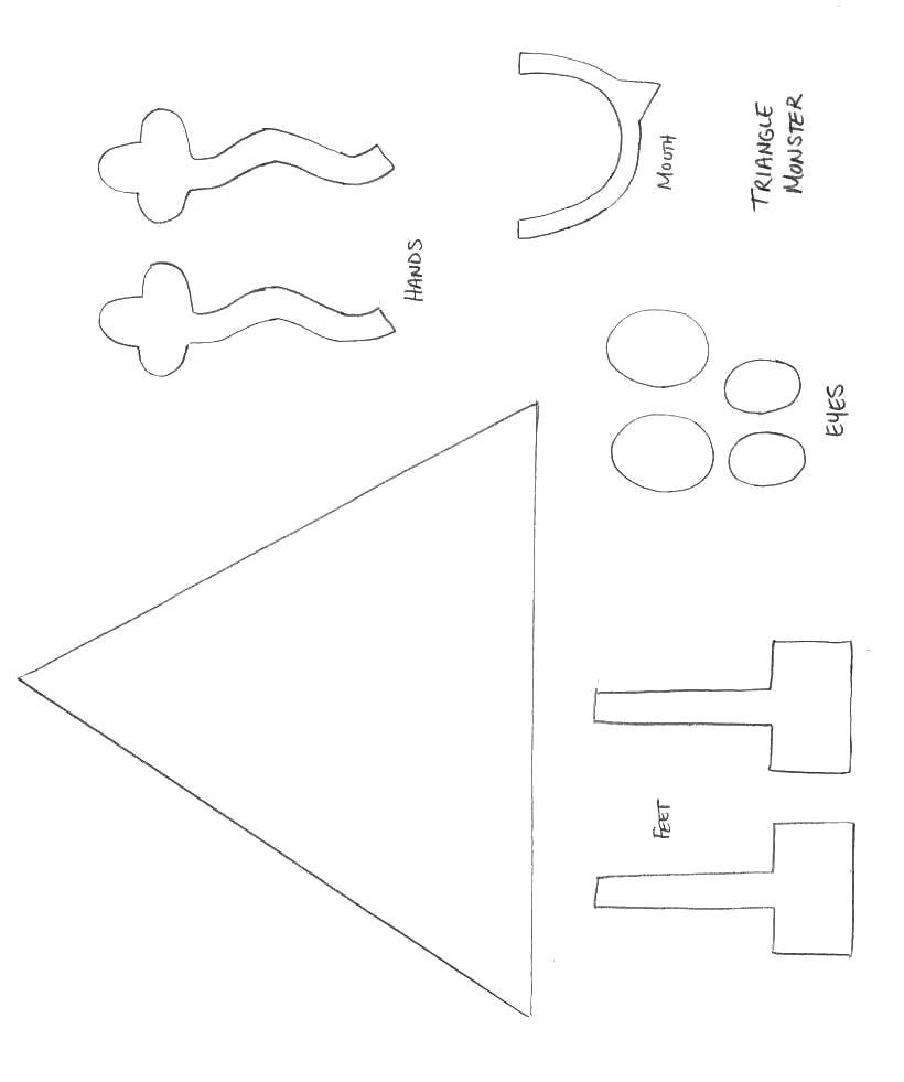 Название: Раскраска геометрическая фигура из бумаги. Категория: геометрические фигуры. Теги: треугольник.