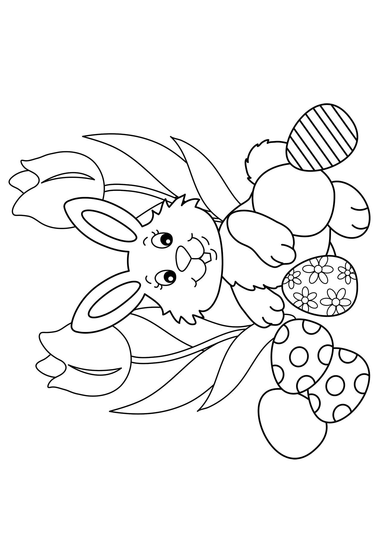 Раскраска  Яйца.  Пасхальные яйца, раскрашенные яйца, яйца к пасхе, картинка пасха. Скачать Пасха.  Распечатать Пасха