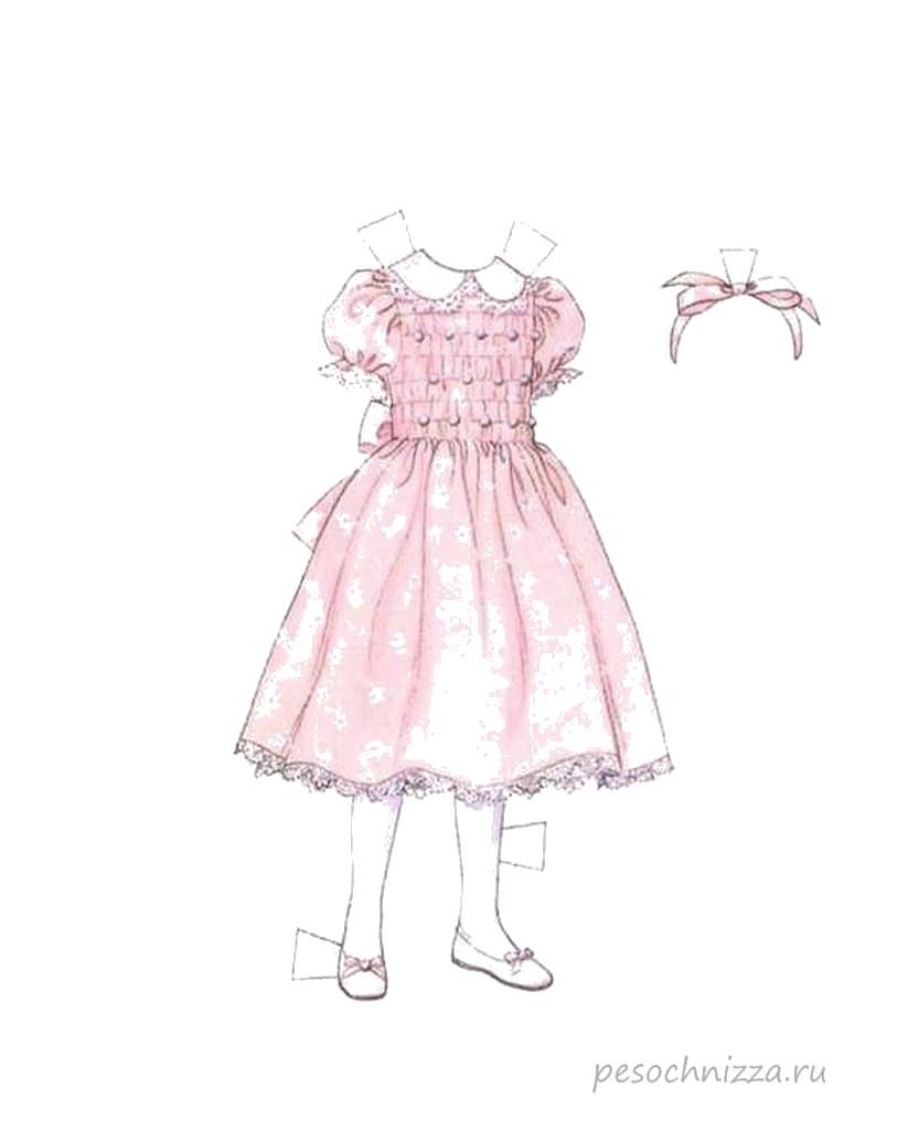 Раскраска бумажная кукла вырезалки - одевалки. одень куклу