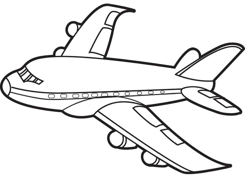 Раскраска Раскраска Самолет. самолет