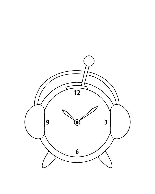 картинка раскраска будильник матросов, мичманов старшин