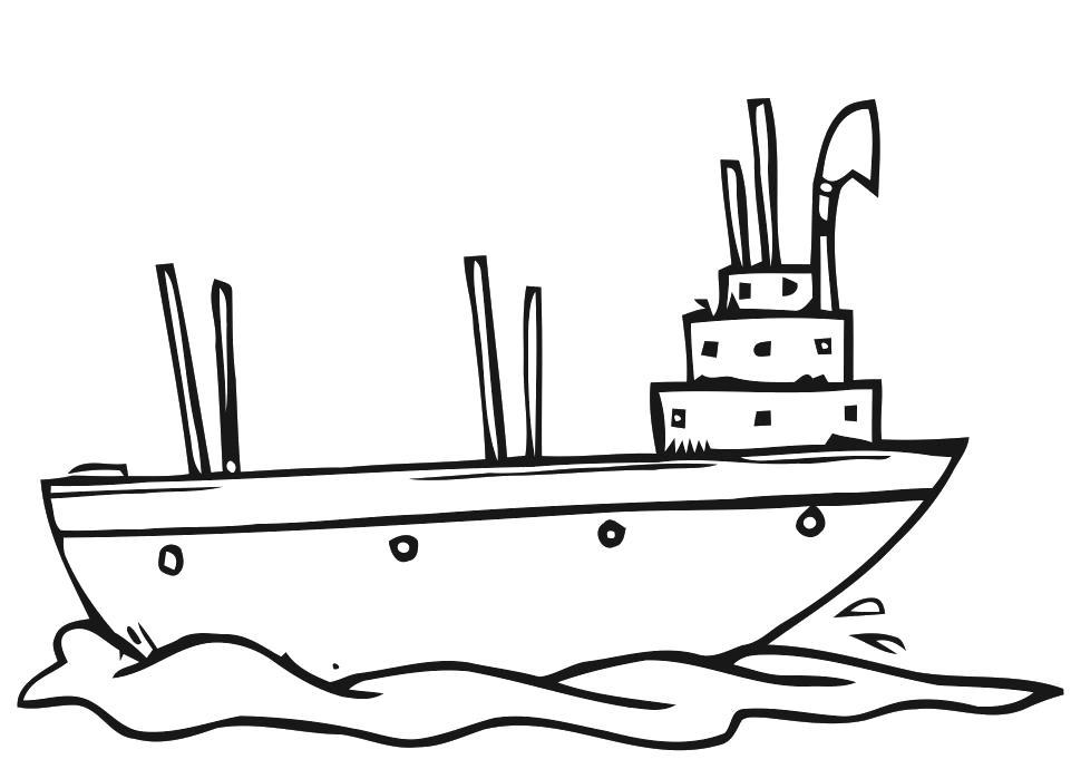 Раскраска корабль, рисунки. Скачать Кораблик.  Распечатать Кораблик