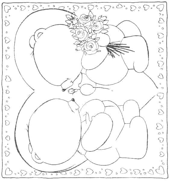 Раскраска раскраска открытка маме. День Матери