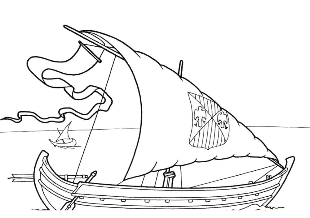 Раскраска Раскраска корабль. для мальчиков