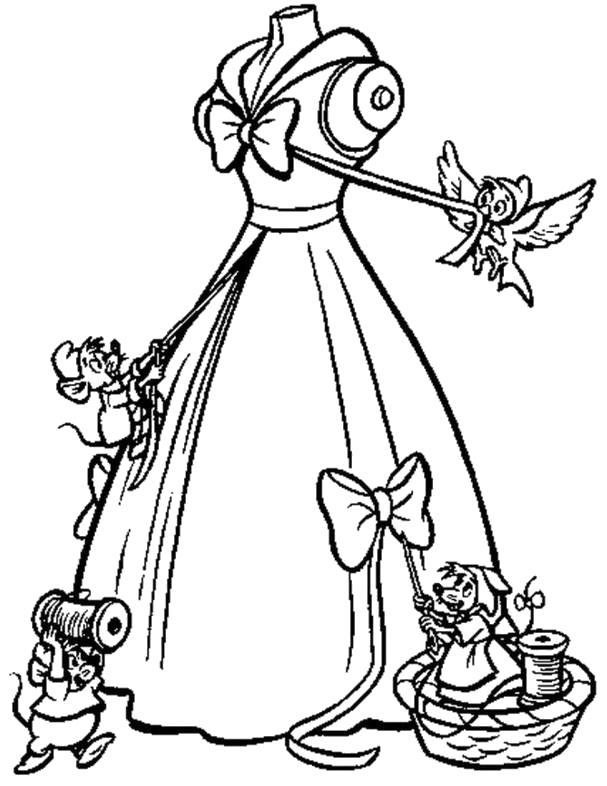 Раскраска модное бальное платье. Скачать мода.  Распечатать Для девочек